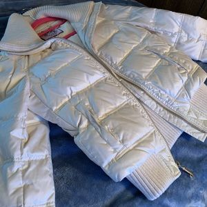 Juicy Couture white jacket with gold detail